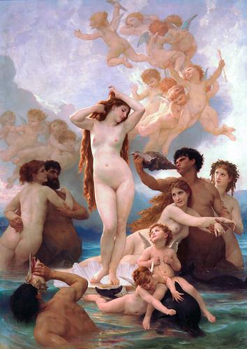 Geboorte van Venus, Bouguereau (1879)