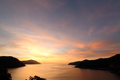 After sunset (Teruhide Tomori) Tags: sunset landscape japan japon sea water sky clouds beach fukui wakasa obama tagarasu 田烏 小浜 若狭湾 福井県 日本 夕焼け空 空 日没 海 dusk