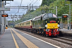 The Power and The Glory (whosoever2) Tags: uk united kingdom gb great britain england nikon d7100 train railway railroad august 2018 hartford cheshire englishelectric type4 d213 andania cumbrian mountain express crewe carlisle