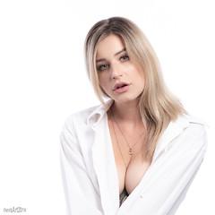 Rose-2044 (DEVSart) Tags: nikon d810 model portrait blonde longhair pretty beautiful woman female lady dressshirt toronto ontario canada blueeyes headshot