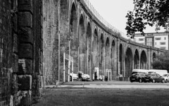 Under The Arches (WorcesterBarry) Tags: blackwhite bnw architecture arches england street streetphotography streetphoto railway places people photographers parkingfine carpark railways humour travel adventure