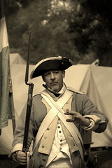 Revolutionary War Days, Cantigny Park. 29 (EOS) (Mega-Magpie) Tags: canon eos 60d outdoors cantigny park wheaton dupage il illinois usa america sepia revolutionary war days soldier people person man guy dude fella musket