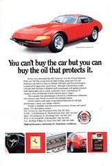 1990 Penrite Oil 1973 Ferrari 365 GTB/4 Daytona Aussie Original Magazine Advertisement (Darren Marlow) Tags: 5 6 7 9 19 90 1990 penrite o oil petroleum f ferrari 365 g t gt4 1 3