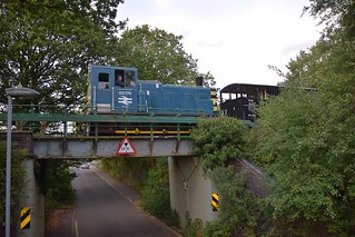Shunter 03170 taking the Brakevan shuttle back to North Weald, from Epping Forest. Epping Ongar Railway Diesel Gala 15 09 2018
