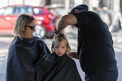 Center of Attention (vtom61) Tags: sonya7riii sonyfe85mmf18 boy child haircut mother ballard seattle