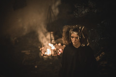 A scary witch (maxlaurenzi) Tags: medieval candle light woman beautiful romantic surreal reenactment italy monzambano summer night witch dramatic movie scary eerie creepy devil