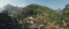 Silence must be heard (Den7on) Tags: shadow tomb raider eidos montreal square enix lara croft tree mountain water tropical river rock forest mist