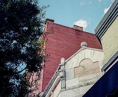 I Like Building's Angles and Dates (Neal3K) Tags: barnesvillega constructioncamera filmcamera fujiworkrecord35mm georgia kodakportra400 workcamera