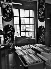 For The Record (Ellery Images) Tags: wednesday hww elleryimages blackandwhite monochrome window antique store record