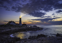 Dawn in Portland (martinradigan) Tags: portland head portlandhead lighthouse maine martinradigan landscape oceanscape sunrise downeast