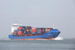 SUNRISE X (angelo vlassenrood) Tags: ship vessel nederland netherlands photo shoot shot photoshot picture westerschelde boot schip canon angelo walsoorden cargo container sunrisex