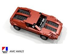 AMC AMX/2 Concept 1969 (lego911) Tags: amc american motor corporation amx2 concept 1969 v8 midengine teague 1960s classic studio thinkyoung auto car moc model miniland lego lego911 ldd render cad povray usa america