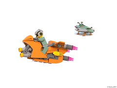 19 RETRO SPACE HERO'S SPACESHIP - Spacebike Explorer (Nuno_0937) Tags: lego ideas classic space spaceship ship moc retro hero minifigure