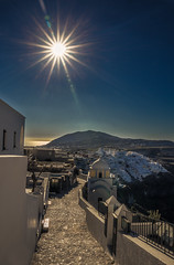 Fira,Santorini (Vagelis Pikoulas) Tags: thira fira santorini greece europe island travel cyclades holidays view village villagescape city cityscape landscape tokina 1628mm canon 6d 2018 january winter sunburst sunshine sky blue