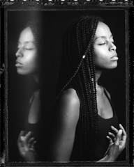 R. (denzzz) Tags: portrait polaroid55 negativescan blackwhite blackandwhite skancheli wista45dx largeformat 4x5 instantfilm analogphotography filmphotography expired fujinona 180mm walimex daylight1260