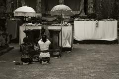 In prayer, Pura Gunung Kawi (Triple_B_Photography) Tags: bali balinese blackwhite canon contrast culture ceremony eos 2017 7d pura faith female world woman people parasol religion temple travel tourism pray