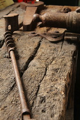 tool bench (tinamjones1948) Tags: tools rust wood bench blaenafon blaenavon southwales wales whs worldheritagesite industrialsite coalmine oldtools workshed unesco