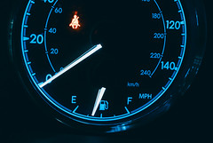 Toyota Corolla Speedometer (Tony Webster) Tags: corolla toyota blue car gasgauge speedometer toyotacorolla
