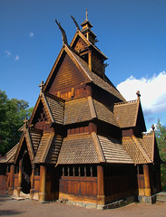 A 13th century Stave Church at Norsk Folkemuseum, Oslo Norway (Gail K E) Tags: norway oslo stavechurch historical middleages medieval church norge norskfolkemuseum golstavkirke