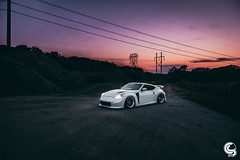 @ymfchino Bagged 370z Sunset - Photo by @Seems_Lgt (Corey Smiley Photography) Tags: nissan nismo 370z stancenation stance nation air lift performance zociety tuner status just stanceworks works bagged ride pasmag