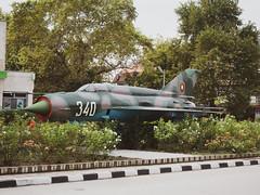 old russian jet fighter (spline_splinson) Tags: bulgaria blacksea bulgarien jetfighter mig russianjet russianwarplane schwarzesmeer dălgopol warna bg