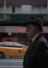 It's all a blur. (dtravano) Tags: 50mmlens nikond3000 streetphotography photooftheday lightsandshadows colorsandtones nyc newyorkers urbanstyle streetscene citylife