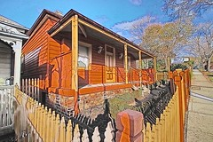 Hill St. blues. (Ian Ramsay Photographics) Tags: camden newsouthwales australia hillstreet blues house history orange fence picket wood
