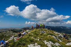 Dinara mountain, Bosnia and Herzegovina (HimzoIsić) Tags: landscape mountain peak mountaineering hiking ridge rock poeple grass nature sky blue clouds