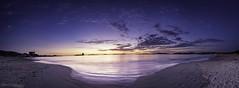 Playa de Samil (Noa Táboas) Tags: samil playadesamil playa vigo arena sunset cies islascies islas toralla galicia water clouds nubes landscape paisaje beach nature light sun luna moon