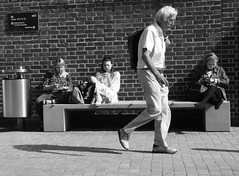 Some of Us Taking it Easy (Bury Gardener) Tags: bw blackandwhite burystedmunds 2018 nikond7200 nikon england eastanglia uk britain suffolk streetphotography street streetcandids snaps strangers candid candids people peoplewatching folks
