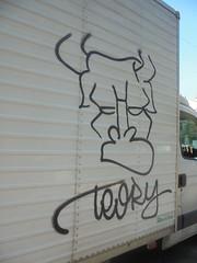 403 (en-ri) Tags: teory nero spray toro bull van torino wall muro graffiti writing camioncino