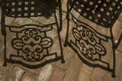 Shadows of Two Chairs (Noah Lifschey) Tags: shadow shadows contrast santamonica losangeles streetphotography fuji fujifilm xt2 xf1855