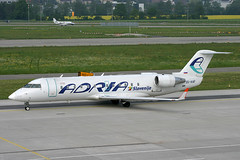 S5-AAF, Zurich, May 16th 2004 (Southsea_Matt) Tags: s5aaf adriaairways bombardier crj200lr zurich kloten lszh zrh switzerland canon 10d may 2004 spring airplane aeroplane jetplane jet jetliner airliner aviation plane transport regionaljet