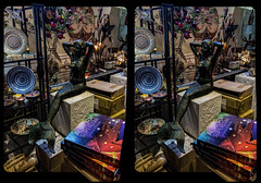 The Mermaid (Stereo) (tombentz33) Tags: stereo stereoscopic 3d crossview abstract stores stereoframes