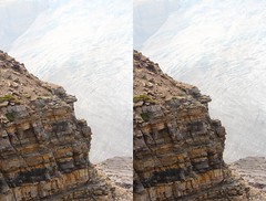 Crumbly Rock (ubernatural) Tags: mtrobson berglake camping backpacking hiking bc canada stphmkre stereophotomaker crossviewstereo 3d mountain