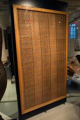 Haida mat woven from cedar bark (quinet) Tags: 2017 aborigène canada firstnations indian kunst ontario rom royalontariomuseum toronto ureinwohner aboriginal art museum musée native 124