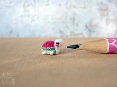 131-watermelon turtle 10mm (1) (tinyteensdolls) Tags: amigurumi crochet craft crochetmini crochettoy crochetminiature toy tinyamigurumi tiny threadcrochet turtle miniature mini microcrochet micro minicrochet 10mm miniamigurumi dollhouseminiature small watermelon crochetturtle