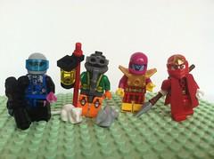 Taking Liberties (Gallisuchus (Clayface)) Tags: custom lego dc batman gotham supervillain minifigures mr freeze ratcatcher new adventures electro mad monk vampire