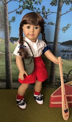 Little camper (Foxy Belle) Tags: molly american girl doll historic character camp diorama scenes settings braids uniform summer ag 18 inch wwii 14 scale