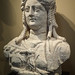 Limestone sculpture of the goddess Isis depicted as a Roman matron from Roman Egypt