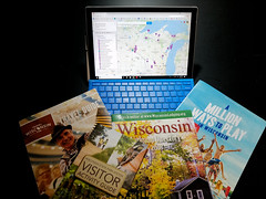 Project 365 - 9/7/2018 - 250/365 (cathy.scola) Tags: project365 odc planning vacation brochures computer