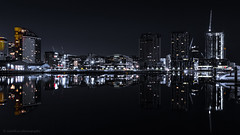 City View (samiKoo) Tags: cityview city urban longexposure dark moody morning night architecture melbourne melbournearchitecture docklands water reflection cityscape cityscene skyline photography photo photograph canon 6d 24105mml australia
