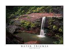 Waterfall or water trickle (sugarbellaleah) Tags: drought waterfall trickle flowing rockpool pool ferns rocks mountain bluemountains flora secludedplants wentworthfalls nsw australia