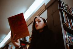 Girls Like Mystery (MarvinHrrr) Tags: portrait library moody books sherlock girl brunette breautiful pentax sigma vancouver canada