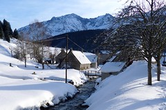(juliettelobert) Tags: village snow snowyvillage snowy winter mountain villageinthemountain pyrenees pyrénées france landscape francecountryside countryside francelandscape