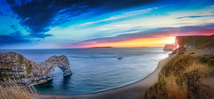 Sunset @ Jurassic Coast, Durdle Door, Dorset (S.A.W. Pixels) Tags: artistic arts art amazing durdledoor durdle door jurassiccoast canon cityscape clouds canon5dmk3 canon5dmkiii dramatic drama dusk dorset excellent europe england explore explored exposed flickr flickrbest freedom forest hiking landscape landscapes mountain mountainside mountains ngc unesco heritage heritagesite landmark outdoor observing picture photo panaroma panorama peace syedaliwarda sky sunset sea unitedkingdom uk
