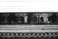 (von8itchfisk) Tags: film filmisnotdead ishootfilm analog analogphotography 35mm washi selfdeveloped olympus om10 blackandwhite highcontrast vonbitchfisk italy genoa genova trainstation