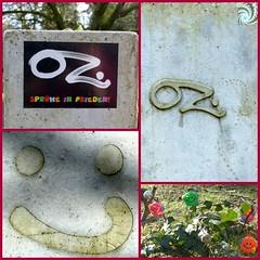 Smileys (Anke knipst) Tags: hamburg friedhof germany oz grabstein collage cemetery tombstone smiley ohlsdorf sprayer graffiti