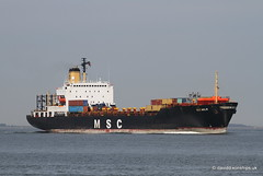 Ship. MSC Malin 8201636 (dickodt65) Tags: ship river schelde containership msc malin