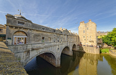 Pulteney Bridge & River Avon (abtabt) Tags: unitedkingdom uk england bath georgianarchitecture architecture bridge river d700sigma1224 water